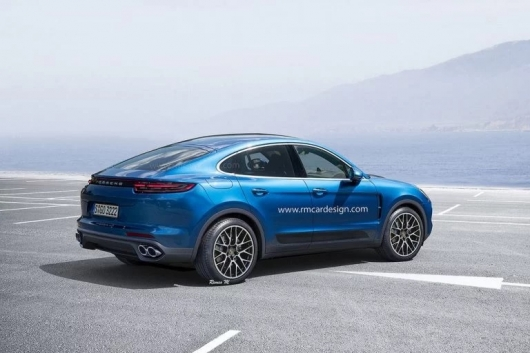 Let's look at the coupe-SUV Porsche Cayenne Coupe [Render pictures]