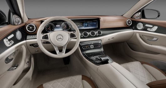 2016 Mercedes E Class revealed the first official photos of the interior