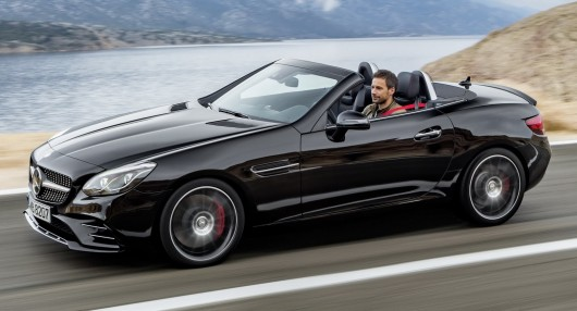 It showed the new  Mercedes-Benz SLC