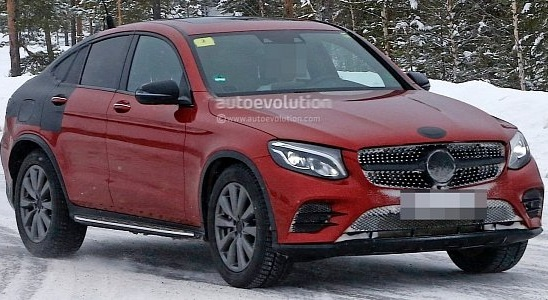 2017 Mercedes-Benz GLC Coupe showed virtually no camouflage