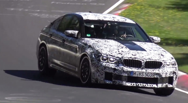 Video: testing the new 2018 BMW M5 at the Nurburgring