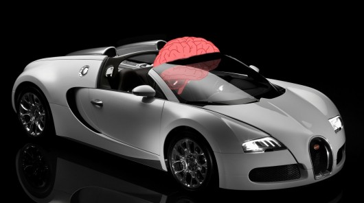 Sports car Bugatti Veyron can accelerate to the speed of information transfer in the brain