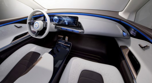 Electric concept SUV Mercedes EQ, new era of the development of electric cars