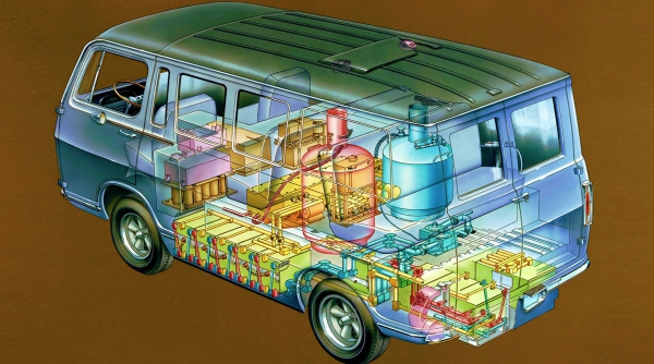 The first GM electric van with fuel cell is 50 years old