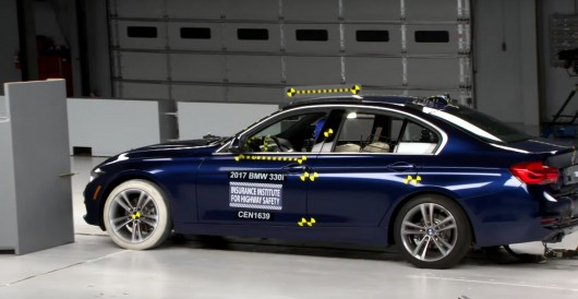 2017 BMW 3-Series received the award of Top Safety Pick+ from IIHS