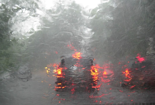 How to drive a car in heavy rain and during flooding