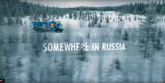 Watch the incredible jumps of KAMAZ on a snowy road