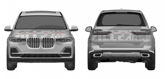 The 2019 BMW X7 concept shown in network