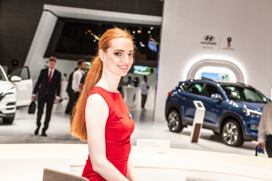 The selection of the most beautiful girls of the Moscow motor show in 2018
