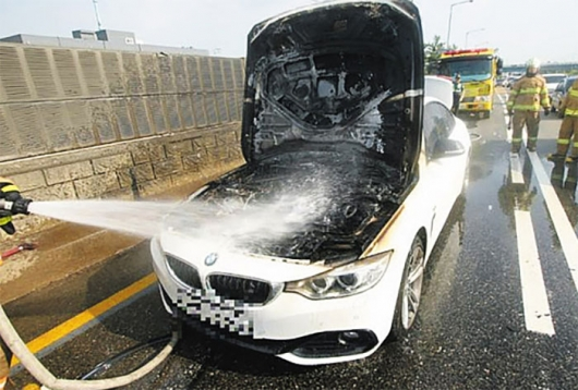 In Korea burn diesel BMW: nobody knows what is the cause of spontaneous combustion