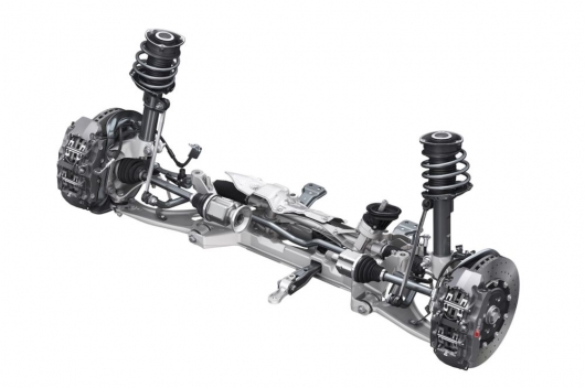What are the advantages of suspension double wishbone front MacPherson strut