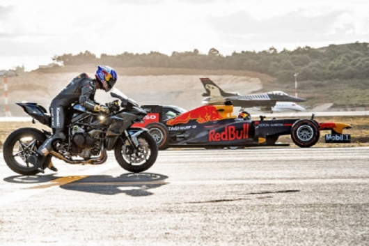 Quiz: Who is faster a motorcycle, electric car, F1 or F16 aircraft