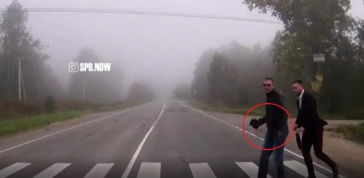 A new kind of avtopodstavy on the road captured on video