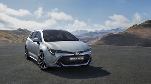 Coming new model of Toyota Corolla Touring Sports station wagon