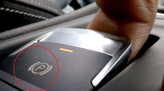 What happens if you turn on the electronic hand brake at speed of 193 km/h