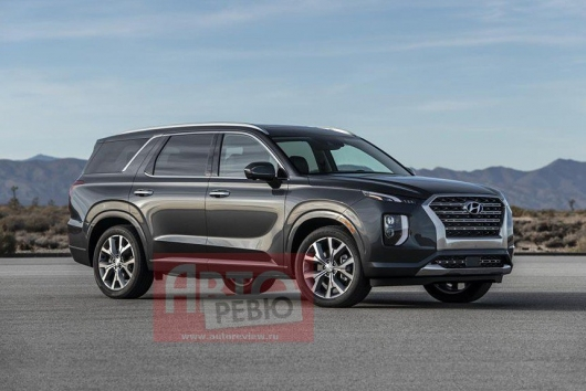 2020 Hyundai Palisade – the first picture of an SUV without camouflage