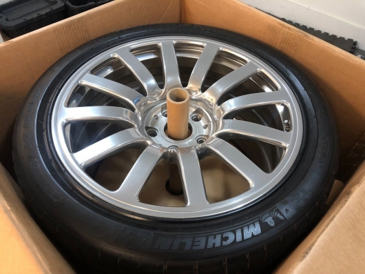 Used wheels from a Bugatti Veyron at the price of a home in the USA!