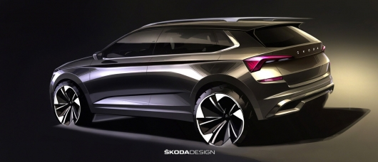 Skoda has revealed the unique sketches of the new subcompact SUV Kamiq