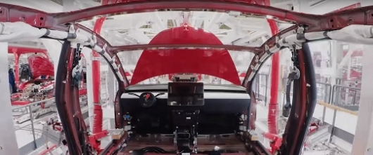 The Assembly of the Tesla Model 3 in 48 seconds: video