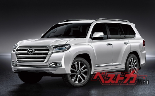 The appearance of Toyota Land cruiser 300 is becoming clearer