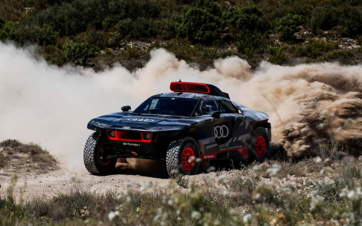 Audi spoke about testing a new SUV for the Dakar