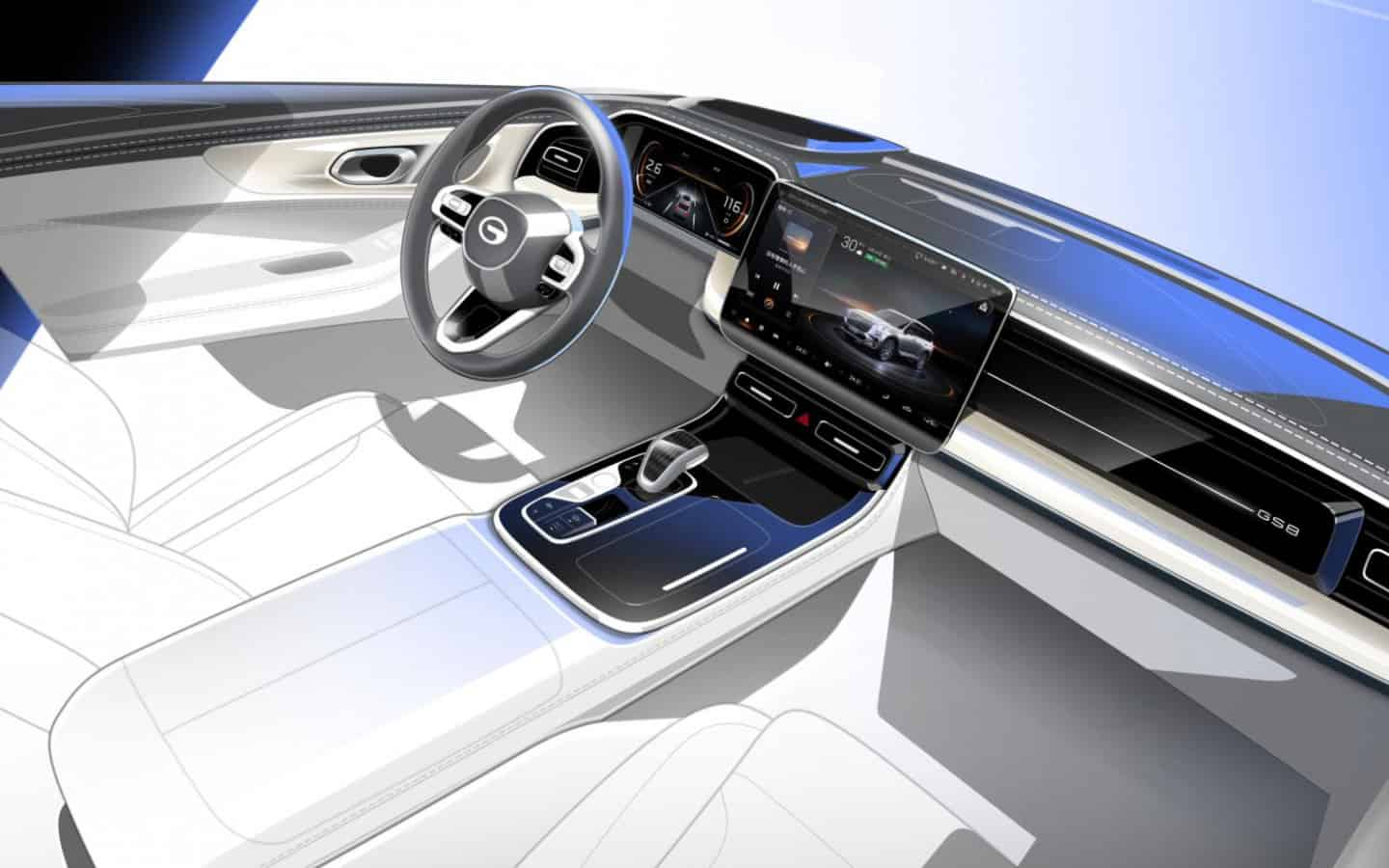 Chinese GAC declassified the interior of the new flagship crossover