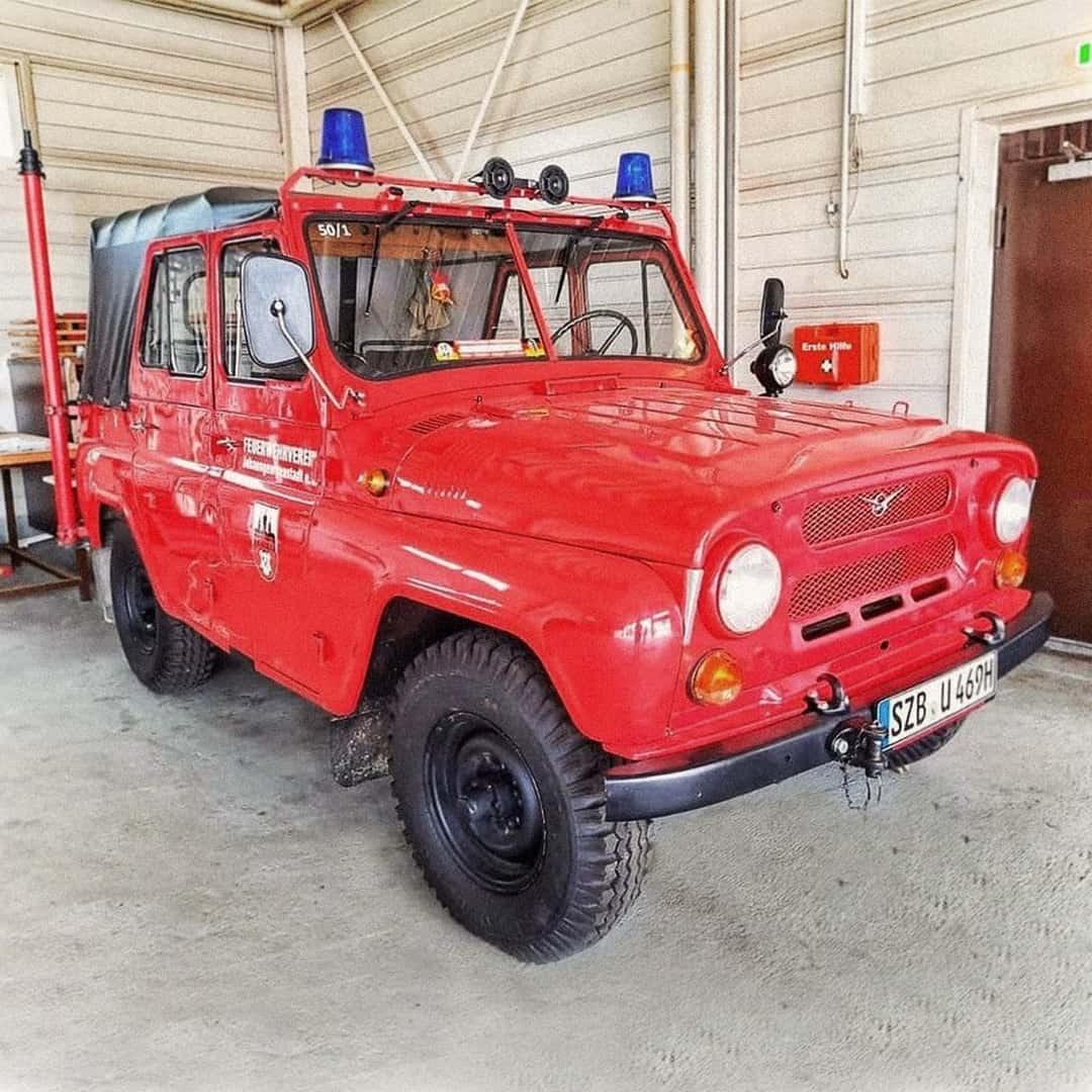 UAZ showed off-road vehicle for German firefighters