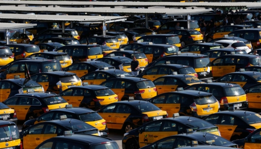 Uber brought the Spanish taxi drivers to nationwide strike