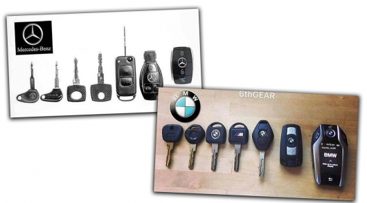 The history of the development of key Mercedes-Benz BMW