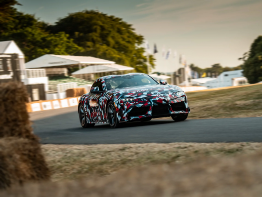 At the festival of speed Goodwood showed a 2019 Toyota Supra, but the camouflage is removed