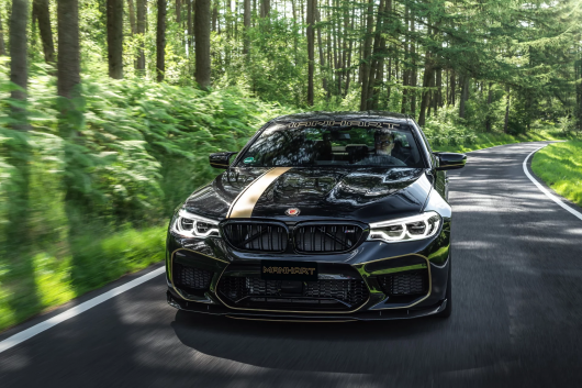 The most powerful in the history of the BMW 5-series was shown on the video