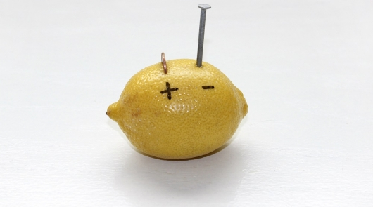 Is it possible from lemons to make a battery charger for the electric vehicle?